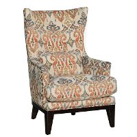 Traditional Sand Pattern Wingback Chair - Silver Lake