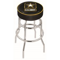 L7C130Army 30 Inch Double Ring Bar Stool - US Army