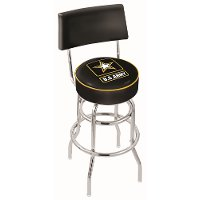 L7C425Army US Army 25 Inch Back Rest Counter Stool