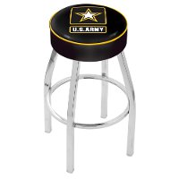 L8C125Army Chrome 25 Inch Cushion Counter Stool - US Army