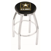 L8C2C30Army Chrome 30 Inch Bar Stool - US Army