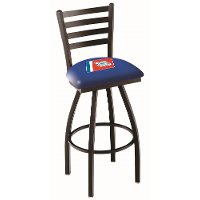 25 Inch Ladder Back Swivel Counter Stool - US Coast Guard