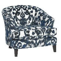 Mid-Century Modern Cobalt Blue Accent Chair - Kelsey