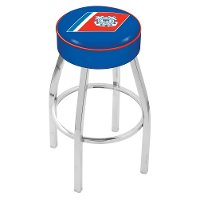 L8C125CstGrd Chrome 25 Inch Cushion Counter Stool - US Coast Guard