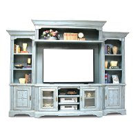 Slate Blue 5 Piece Vintage Entertainment Center - Legacy