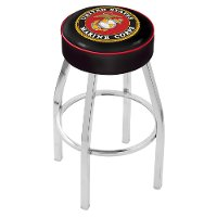 Chrome 25 Inch Cushion Counter Stool - US Marines