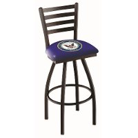 L01425Navy 25 Inch Ladder Counter Stool - US Navy