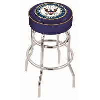 L7C125Navy 25 Inch Double Ring Counter Stool - US Navy