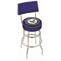 25 Inch Back Rest Counter Stool - US Navy