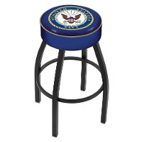 L8B125Navy Black 25 Inch Cushion Counter Stool - US Navy