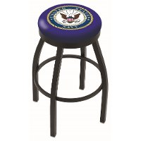 US Navy Black 25 Inch Counter Stool