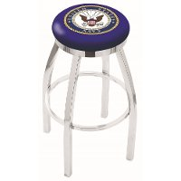 L8C2C30Navy Chrome 30 Inch Bar Stool - US Navy