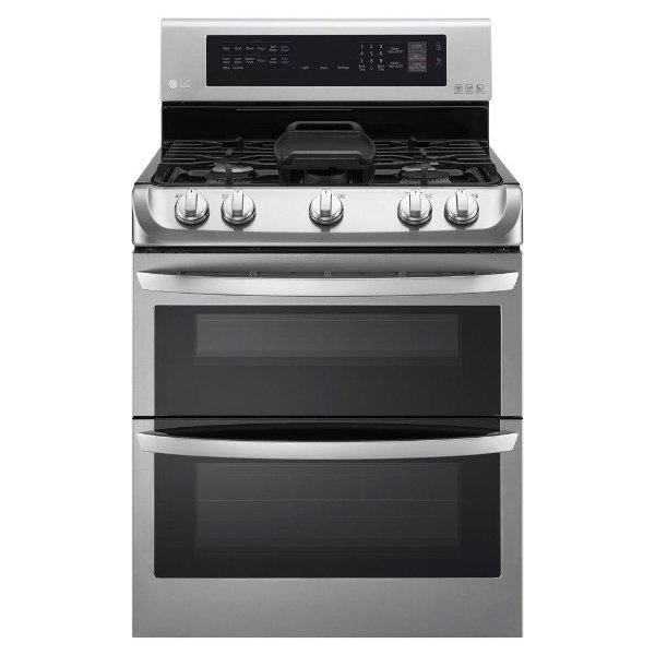 Black Stainless Steel49999 Ldg4315st Lg Double Oven Gas Range With Probake Convection 6 9 Cu Ft