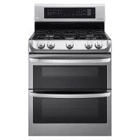 LDG4313ST LG Double Oven Gas Range with EasyClean - 6.9 cu. ft. Stainless Steel