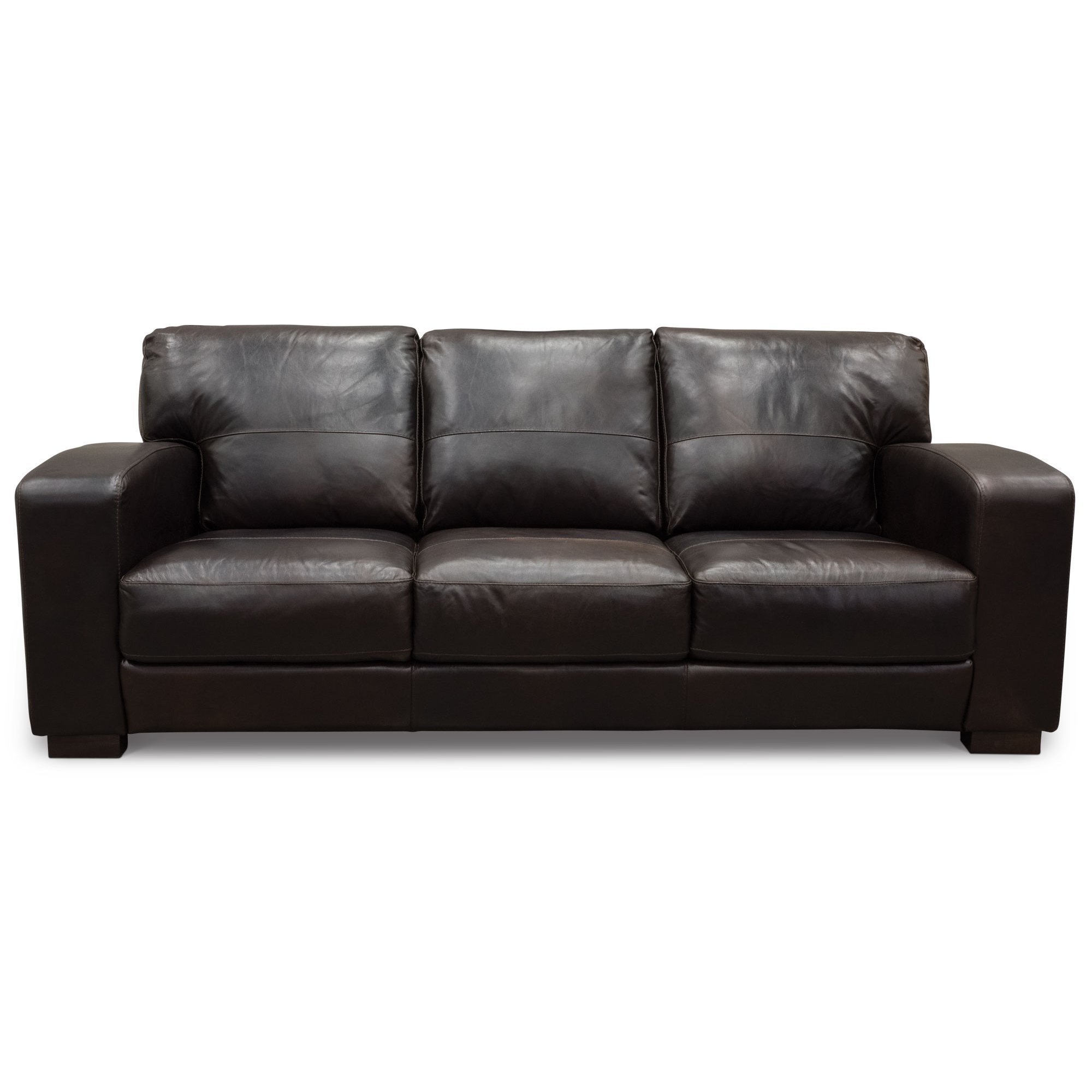 Casual Contemporary Brown Leather Sofa Aspen