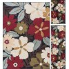 LGN4520 SET3 3 Piece Set Green, Red, and Blue Area Rug - Laguna