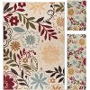 LGN4542 SET3 3-Piece Set Beige, Blue & Red Area Rug - Laguna