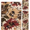 LGN4570 SET3 3-Piece Set Red, Brown & Blue Area Rug - Laguna