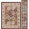 LGN4588SET3 3 Piece Set Beige and Green Area Rug - Laguna