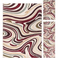 LGN4602 SET3 3 Piece Set Beige, Red, and Brown Area Rug - Laguna