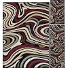 LGN4608 SET3 3 Piece Set Red and Beige Area Rug - Laguna