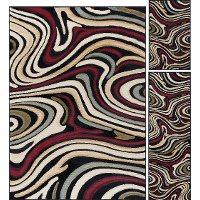 LGN4608SET3 3 Piece Set Red and Beige Area Rug - Laguna