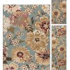 LGN4926 SET3 3 Piece Set Blue, Gold, and Ivory Area Rug - Laguna