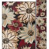 LGN4983 SET3 3 Piece Set Beige, Red, and Black Area Rug - Laguna