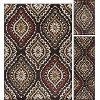 LGN5008SET3 3 Piece Set Brown, Red, and Green Area Rug - Laguna