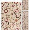LGN5052 SET3 3 Piece Set Ivory, Red, and Gold Area Rug - Laguna
