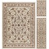 LGN5072 SET3 3 Piece Set Ivory, Gold, and Bronze Area Rug - Laguna