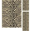 ELG5162 SET3 3 Piece Set Beige and Black Zebra Print Area Rug - Elegance