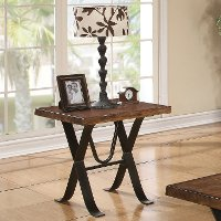 Rustic Hickory Side Table - Boulder Collection