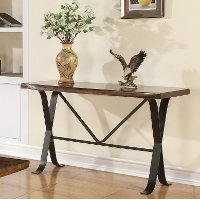 Rustic Hickory Sofa Table - Boulder Collection