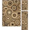 ELG5382 SET3 3 Piece Set Green, Beige, and Gold Area Rug - Elegance