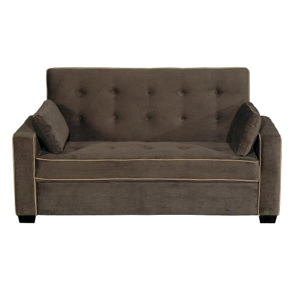 Java Brown Queen Convertible Sofa Bed Augustine Collection
