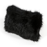 Black Faux Lamb Pillow