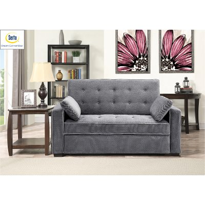 Charming Gray Full Convertible Sofa Bed   Augustine ...