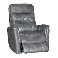 Slate Gray Power Swivel Glider Recliner - Luke
