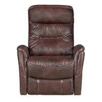 Burgundy Power Swivel Glider Recliner - Luke