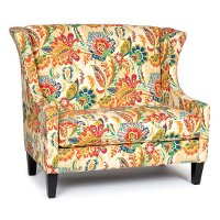1500AYERSJEWEL Floral Wing Settee - Ayers