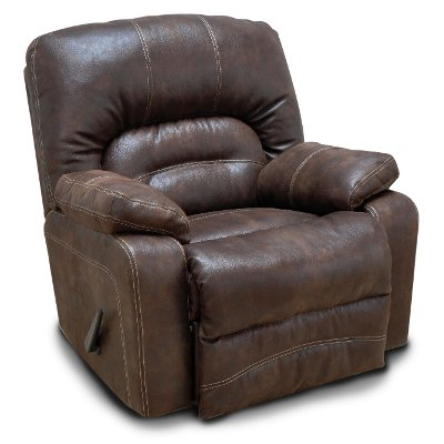 chocolate brown microfiber swivel rocker recliner legacy - Leather Rocker Recliner