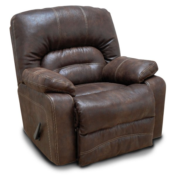... Chocolate Brown Microfiber Swivel Rocker Recliner   Legacy ...