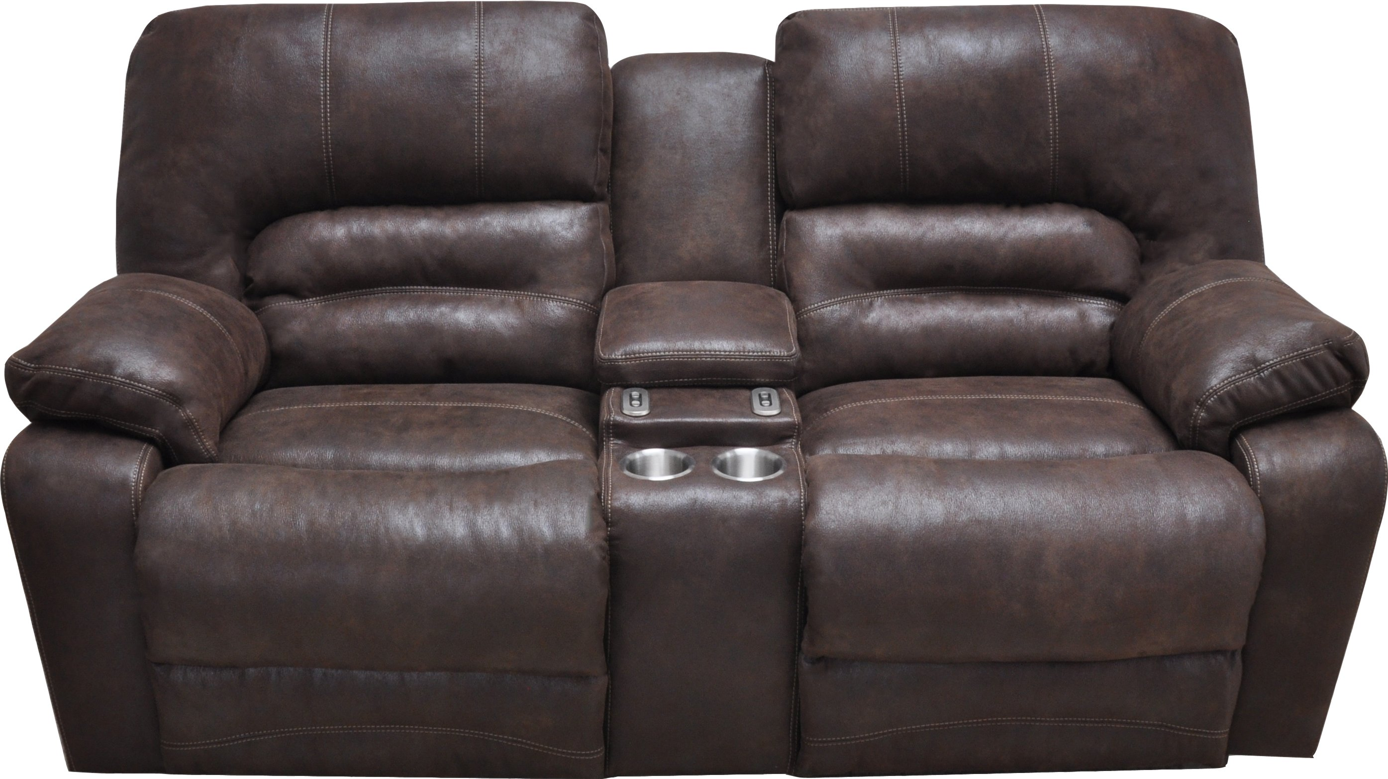 Chocolate Brown Microfiber Reclining Sofa