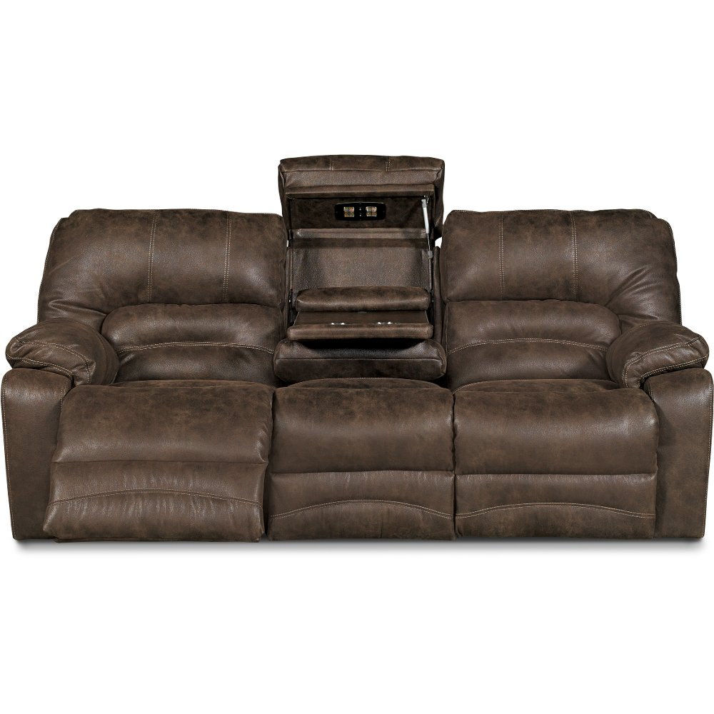 Chocolate Brown Microfiber Manual Reclining Sofa U0026 Loveseat   Legacy | RC  Willey Furniture Store