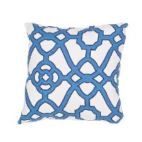VER60-VERANDAIN-OUT Veranda White and Blue 18 Inch Indoor-Outdoor Throw Pillow