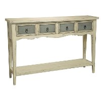 Antique White/Gray Console Table