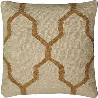 Beige and Natural 18 Inch Throw Pillow
