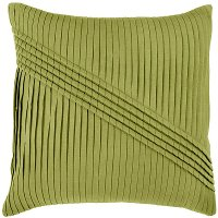 Lime Green Pleated 22 Inch Throw Pillow
