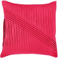 Pink Pleated 22 Inch Throw Pillow